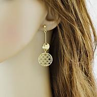 levne -Dámské Visací náušnice - Geometrik Základní Módní Šperky Zlatá Pro Denní Rande 1 Pair