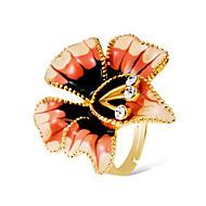 저렴한 -여성용 취소 모조 큐빅 공상 진술서 반지 새해 맞이 조정 가능한 반지 - 18K 골드 플레이티드, 모조 다이아몬드 Flower Shape 스테이트먼트, 과장, 대형 보석류 골드 제품 카니발 거리 바 조절가능