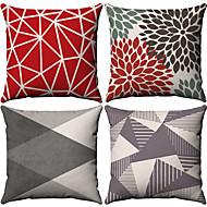 お買い得  -4.0 個 コットン / リネン 枕カバー, シンプル 幾何学的な シンプル 幾何学図形