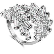 저렴한 -여성용 클래식 열기 반지 - 보석류 골드 / 실버 / 로즈 제품 결혼식 약혼 조절가능