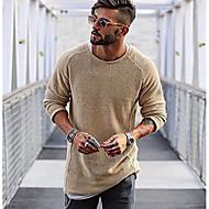 povoljno -Muškarci Dnevno Jednobojni Dugih rukava Regularna Pullover Red / Bež / Svjetlosmeđ M / L / XL