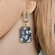 저렴한 -여성용 클래식 드랍 귀걸이 - 빈티지 유럽의 프랑스어 보석류 골드 제품 이브닝 파티 제전 1 쌍