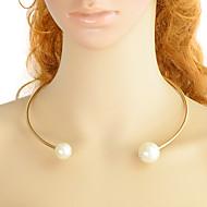levne -Dámské Geometrické Tork - Perly Jednoduchý, Módní Cool Zlatá 45 cm Náhrdelníky Šperky 1ks Pro Denní, Rande