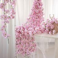 お買い得  -人工花 1 ブランチ 壁掛け式 一時停止中 パーティー 結婚式 桜 バスケット フラワー