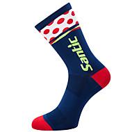 levne -Kompresní ponožky Sportovní ponožky / atletické ponožky Cyklistické ponožky Pánské Kolo / Cyklistika Prodyšné Odvod vlhkosti Yumuşak 1 Pair Jednobarevné tečky a kostky Šetrný k životnímu prostřed