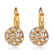 levne -Dámské Průsvitné Kubický zirkon Klasika Náušnice - Kruhy - Pozlacené Umělé diamanty Koule Moderní Romantické Šperky Zlatá Pro Denní Formální 1 Pair