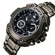 저렴한 -ASJ 남성용 드레스 시계 일본 쿼츠 블랙 달력 아날로그 클래식 캐쥬얼 패션 - 화이트 레드 블루 1 년 배터리 수명 / SSUO SR626SW + CR2025