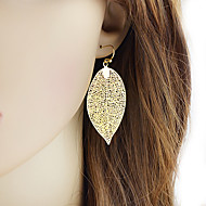 cheap -Women's Hollow Out Drop Earrings - Botanical Stylish Simple Jewelry Golden For Daily Date 1 Pair