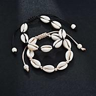 billige -Dame loom Armbånd Skal Tropisk Armbånd Smykker Sort / Beige Til Bryllup Gave Karneval I-byen-tøj Bikini