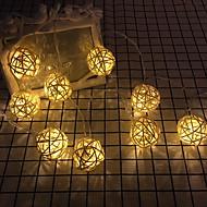 cheap -3m String Lights 20 LEDs Warm White Decorative 220-240 V 1 set