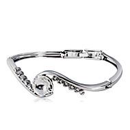 preiswerte -Damen Klar Kristall Klassisch Tennis Armbänder - Diamantimitate Romantisch, Modisch, Elegant Armbänder Schmuck Silber Für Alltag Formal