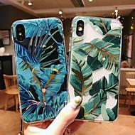 Coque Pour Apple iPhone XR / iPhone XS Max Plaqué / Translucide / Motif Coque Plantes Flexible TPU pour iPhone XS / iPhone XR / iPhone XS Max