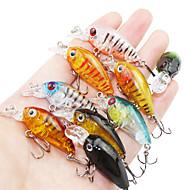 お買い得  -9 pcs ルアー ハードベイト ミノウ 硬質プラスチック フローティング 海釣り ベイトキャスティング スピニング / ジギング / 川釣り / バス釣り / ルアー釣り / 一般的な釣り