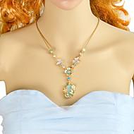 levne -Dámské Zelená Oranžová Hruška Náhrdelníky s přívěšky - Kytky, Motýl, Hruška Romantické, Módní Půvab Oranžová, Světle zelená 56.5 cm Náhrdelníky Šperky 1ks Pro Denní, Rande