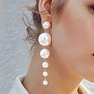 저렴한 -여성용 드랍 귀걸이 - 모조 진주 보석류 골드 제품 결혼식 약혼 1 쌍