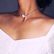 cheap -Women's Choker Necklace - Silver Plated, Gold Plated, Shell Tropical Gold, Silver 32 cm Necklace Jewelry 1pc For Wedding, Birthday, Engagement, Going out, Bikini