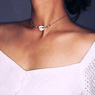 저렴한 -여성용 초커 목걸이 - 은 도금, 도금 골드, 쉘 열대의 골드, 실버 32 cm 목걸이 보석류 1 개 제품 결혼식, 생일, 약혼, 데이트, 비키니