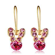 levne -Dámské Růžová Křišťál Klasika Visací náušnice - Pozlacené Umělé diamanty Motýl Sladký Módní Moderní Šperky Zlatá Pro Denní Formální 1 Pair