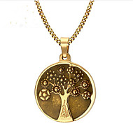 cheap -Men's Women's Classic Pendant Necklace - Steel Stainless life Tree Fashion Cool Gold 60 cm Necklace Jewelry 1pc For Gift, Daily