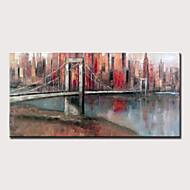 economico -Hang-Dipinto ad olio Dipinta a mano - Astratto Paesaggi Modern Senza telaio interno