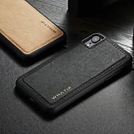 저렴한 -WHATIF 케이스 제품 Apple iPhone XR 방수 / 충격방지 / 마그네틱 뒷면 커버 솔리드 하드 PU 가죽 용 iPhone XR