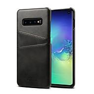Custodia Per Samsung Galaxy S9 Plus / S9 / S8 Plus Porta-carte di credito / Resistente agli urti Per retro Tinta unita Resistente pelle sintetica per S9 / S9 Plus / S8 Plus