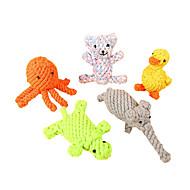 お買い得  -噛む用おもちゃ / 歯磨き用おもちゃ 動物 繊維 / 綿織物 用途 犬用 / 猫用
