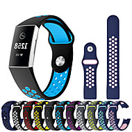 시계 밴드 용 Fitbit Charge 3 핏빗 스포츠 밴드 실리콘 손목 스트랩