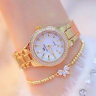 cheap -Women's Wrist Watch Japanese Quartz Stainless Steel Silver / Gold New Design Luminous Casual Watch Analog Casual Fashion - Gold Silver Golden+Silver Two Years Battery Life / Imitation Diamond