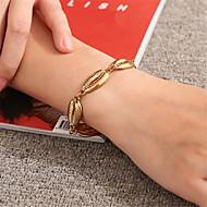 levne -Dámské Dvoubarevné Řetězové & Ploché Náramky Mušle Moderní Cikánský Náramky Šperky Zlatá / Stříbrná Pro Denní Narozeniny