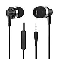 abordables -LITBest Dans l'oreille Câblé Ecouteurs Ecouteur Alliage d'aluminium / Le gel de silice Téléphone portable Écouteur Stereo / Avec Microphone Casque