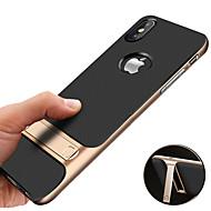 Carcasă Pro Apple iPhone XS / iPhone XS Max Nárazuvzdorné / se stojánkem / Galvanizované Zadní kryt Jednobarevné Pevné TPU pro iPhone XS / iPhone XR / iPhone XS Max