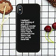 케이스 제품 Apple iPhone XR / iPhone XS Max 패턴 뒷면 커버 단어 / 문구 소프트 TPU 용 iPhone XS / iPhone XR / iPhone XS Max