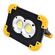 cheap -YouOKLight 1pc 20 W LED Floodlight Dimmable White 3.7 V Outdoor Lighting 2 LED Beads