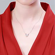 お買い得  -女性用 ペンダントネックレス ネックレス S925スターリングシルバー しか シンプル カジュアル / スポーティ ファッション ホワイト 40+3 cm ネックレス ジュエリー 1個 用途 贈り物 日常 祭り