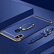 Etui Til Apple iPhone XS / iPhone XS Max Belægning / Ringholder / Ultratyndt Bagcover Ensfarvet Hårdt PC for iPhone XS / iPhone XR / iPhone XS Max
