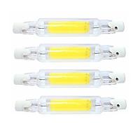 billiga -SENCART 4pcs 4 W Rörglödlampa 400 lm R7S T 1 LED-pärlor COB Vattentät Roterbar Bimbar Varmvit Kallvit 220-240 V