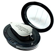 cheap -9890 Portable Mini 40 x Loupe Magnifier Magnifying Triplet Jewelers Eye Glass Jewelry Diamond with Ultraviolet Light LED Lamp
