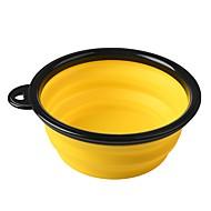 저렴한 -0.38 L 설치류 / 애완견 용품 / 토끼 먹이 애완동물 그릇 & 수유 휴대용 / 물 세탁 가능 / 개고 그린 / 블루 / 핑크