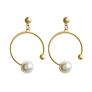 cheap -Women's Classic Stud Earrings Drop Earrings Hoop Earrings Earrings Geometric Classic Jewelry Gold For Daily Formal 1 Pair