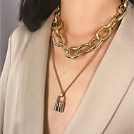 Χαμηλού Κόστους -Γυναικεία Κρεμαστά Κολιέ Κρεμαστό πολυεπίπεδη Κολιέ Ρομαντικό Κομψό Χρυσό Ασημί 40 cm Κολιέ Κοσμήματα 1pc Για Δώρο Καθημερινά Βραδινό Πάρτυ Ημερομηνία Φεστιβάλ