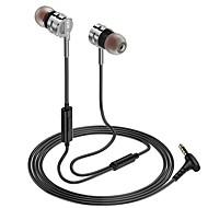رخيصةأون -LITBest في الاذن سلكي Headphones سماعة سبائك الألومنيوم / جل السيليكا الهاتف المحمول سماعة ستيريو / مع ميكريفون سماعة