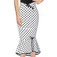 זול -מנוקד - חצאיות צינור סגנון רחוב בגדי ריקוד נשים