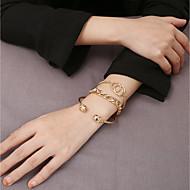 זול -3pcs בגדי ריקוד נשים קלאסי שרשרת וצמידים צמידים צמידי חפתים יָקָר מסוגנן קלסי צמידים תכשיטים זהב עבור חתונה מתנה יומי פגישה (דייט) פֶסטִיבָל