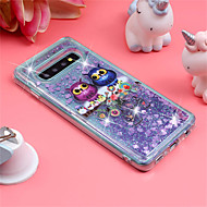 cheap -Case For Samsung Galaxy Galaxy S10 Plus / Galaxy S10 E Shockproof / Flowing Liquid / Pattern Back Cover Owl / Glitter Shine Soft TPU for S9 / S9 Plus / S8 Plus