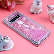 cheap -Case For Samsung Galaxy Galaxy S10 Plus / Galaxy S10 E Shockproof / Flowing Liquid / Pattern Back Cover Sexy Lady / Glitter Shine Soft TPU for S9 / S9 Plus / S8 Plus