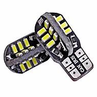 billiga -SENCART 2pcs T10 / BA9S / BAX9S Motorcykel / Bilar Glödlampor 3 W SMD 3014 160 lm 24 LED Nummerplåtsbelysning / Blinkers / innerbelysningen Till Volkswagen / Toyota / Buick Escort / Q5 / Mondeo Alla