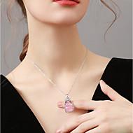 저렴한 -여성용 목걸이 박 아시안 핑크 40+5 cm 목걸이 보석류 1 개 제품 생일 선물 애인