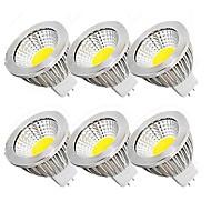 6stk 5 W 450 lm MR16 LED-spotlys MR16 10 LED Perler COB Fest Dekorativ Jul bryllup dekoration Varm hvid Kold hvid 12 V