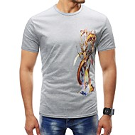 cheap -Men's T-shirt - Geometric Print